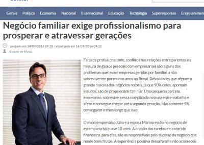 Jornal Estado de Minas-Negócio familiar exige profissionalismo para prosperar e atravessar gerações